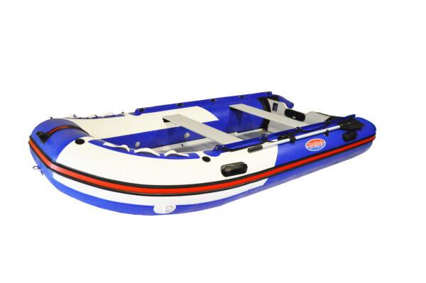 DeBo rubberboot blauw wit