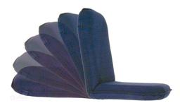 Klapbare Zitstoel Ligstoel Blauw Allpa