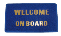Voetmat Welcome on Board