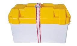 Accubak wit met geel deksel