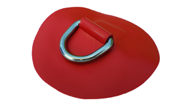 DeBo Rubberboot Hijsoog (D-Ring – RVS) Rood